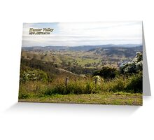 View from Bingleburra Rd, Gresford Greeting Card