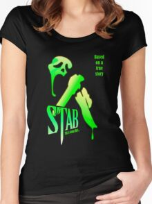 Stab (from the Scream movie) Women's Fitted Scoop T-Shirt