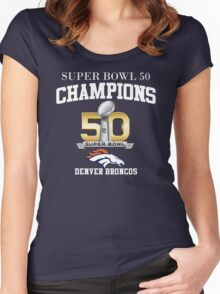 Broncos Super Bowl 50 Champions Women's Fitted Scoop T-Shirt