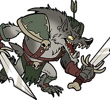 Beast Brigands - Wolf Sticker by weremagnus