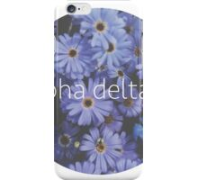 Alpha delta pi iPhone Case/Skin