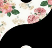 Floral Yin Yang  Sticker