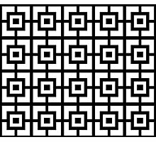 Black And White Square Tiles Photographic Print