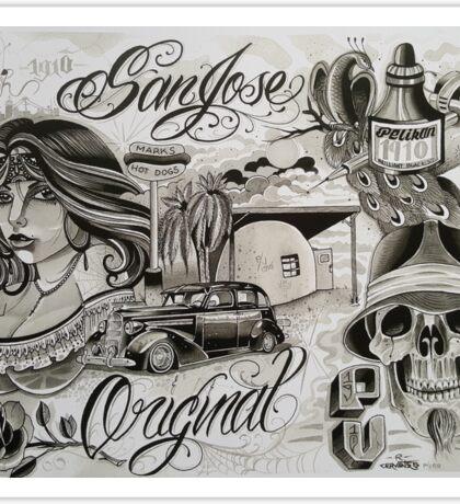 San Jose Original Sticker