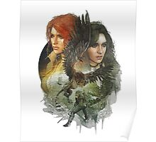 the witcher 3 wild hunt triss and yennefer Poster