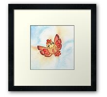Watercolor Magestic Soaring Through the Sky PIDGEY  Framed Print
