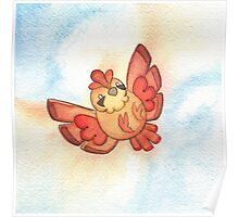 Watercolor Magestic Soaring Through the Sky PIDGEY  Poster