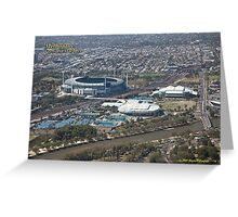 MCG, Rod Laver Arena and Hisense Arena Greeting Card