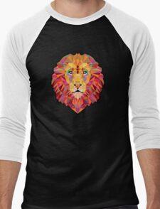 Lion vector Men's Baseball ¾ T-Shirt