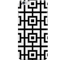 Black And White Square Tiles iPhone Case/Skin