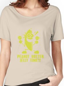 Banana Peanut Butter Jelly Time funny nerd geek geeky Women's Relaxed Fit T-Shirt