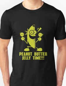 Banana Peanut Butter Jelly Time funny nerd geek geeky Unisex T-Shirt
