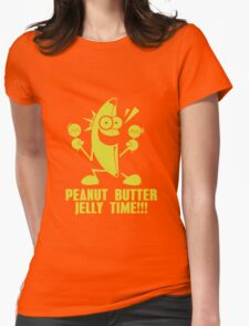 Banana Peanut Butter Jelly Time funny nerd geek geeky Womens Fitted T-Shirt