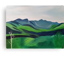 "Mount Mansfield,Vermont-Oil on canvas-12""H by 16""W Canvas Print"