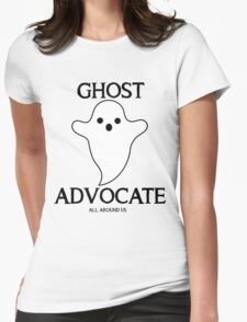 GHOST ADVOCATE - BLACK Womens Fitted T-Shirt
