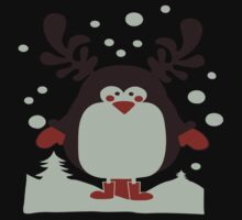 Christmas T Shirt Santa Reindeer Penguin Novelty Xmas Kids Tee