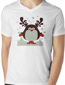 Christmas T Shirt Santa Reindeer Penguin Novelty Xmas Mens V-Neck T-Shirt