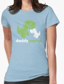 Daddysaurus Dinosaur Dino Womens Fitted T-Shirt
