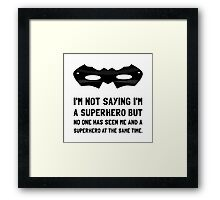 Me And Superhero Framed Print