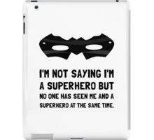 Me And Superhero iPad Case/Skin