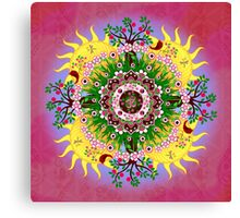 Garden Blessings Om Canvas Print