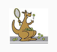 Cartoon of happy kangaroo serving tennis balls Unisex T-Shirt