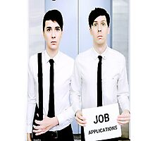 Dan and Phil Get Jobs Photographic Print