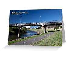 Belmore Bridge & Maitland Riverwalk Greeting Card