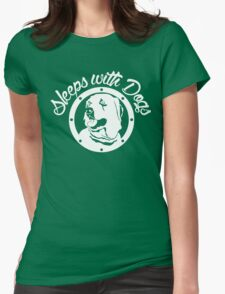 Sleeps With Dogs Funny Men's Tshirt T-Shirt
