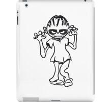 zombie funny creepy blood iPad Case/Skin