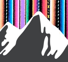 Andean mountains and colored sky Sticker