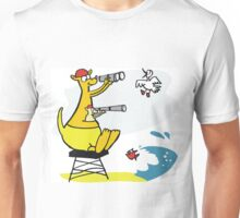 Cartoon kangaroo sitting on surf lifesaving tower Unisex T-Shirt