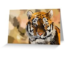 Hand Colored Tiger Greeting Card
