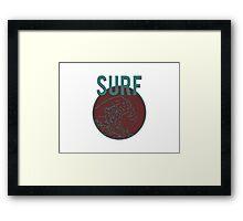"""SURF""  Framed Print"