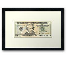 20 dollar bill Framed Print