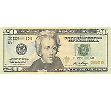 20 dollar bill Photographic Print