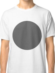 psychedelic spiral in black Classic T-Shirt