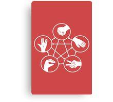 Big Bang Theory Sheldon Cooper Rock Paper Scissors Lizard Spock funny nerd geek geeky Canvas Print