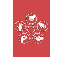 Big Bang Theory Sheldon Cooper Rock Paper Scissors Lizard Spock funny nerd geek geeky Photographic Print