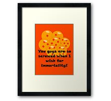 Immortality: The Cure-All Framed Print