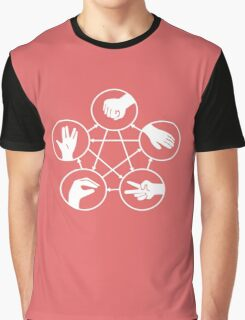 Big Bang Theory Sheldon Cooper Rock Paper Scissors Lizard Spock funny nerd geek geeky Graphic T-Shirt