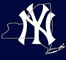 New york Yankees- New york state by American Artist