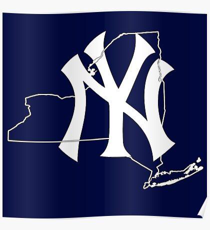 New york Yankees- New york state Poster