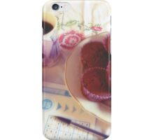 Coffee, chocolate muffins and reflection iPhone Case/Skin