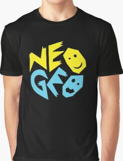 Neo Geo Tribute Yellow & Blue Logo Graphic T-Shirt