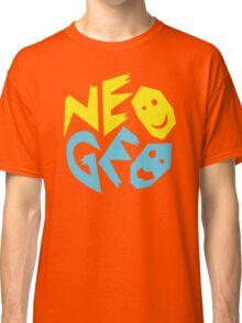 Neo Geo Tribute Yellow & Blue Logo Classic T-Shirt
