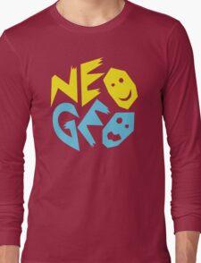 Neo Geo Tribute Yellow & Blue Logo Long Sleeve T-Shirt
