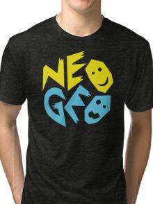 Neo Geo Tribute Yellow & Blue Logo Tri-blend T-Shirt