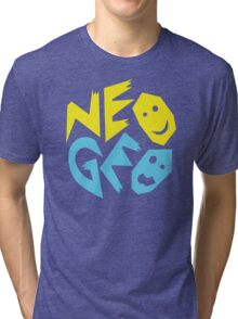 Neo Geo Tribute Yellow & Blue Logo Tri-blend T-Shirt