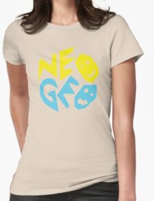 Neo Geo Tribute Yellow & Blue Logo Womens Fitted T-Shirt
